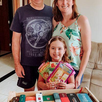 Arrecadação e doação de livros